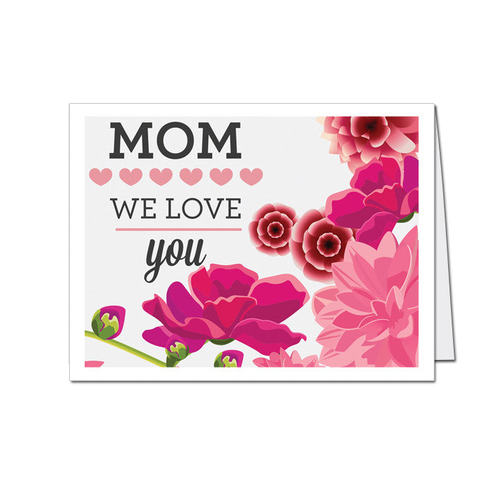Mothers day greeting card mom we love you mypaperdot mothers day greeting card mom we love you m4hsunfo