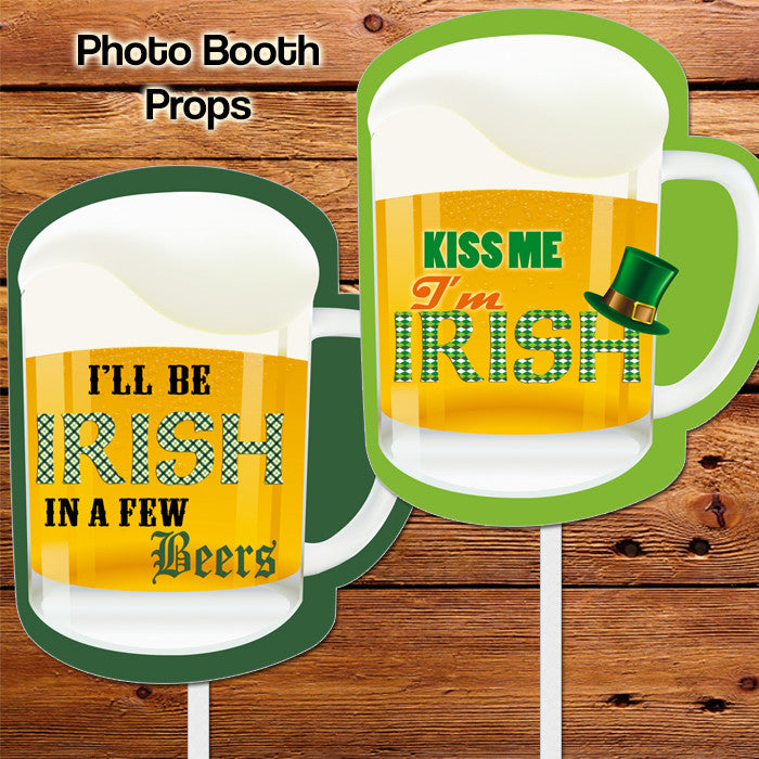 Giant Beers - Photo Props - 2 pack