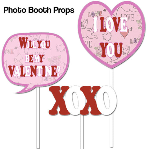 ... Props; Happy Valentineu0027s Day   Party Of 2   Party Essentials U0026 Photo  Booth ...