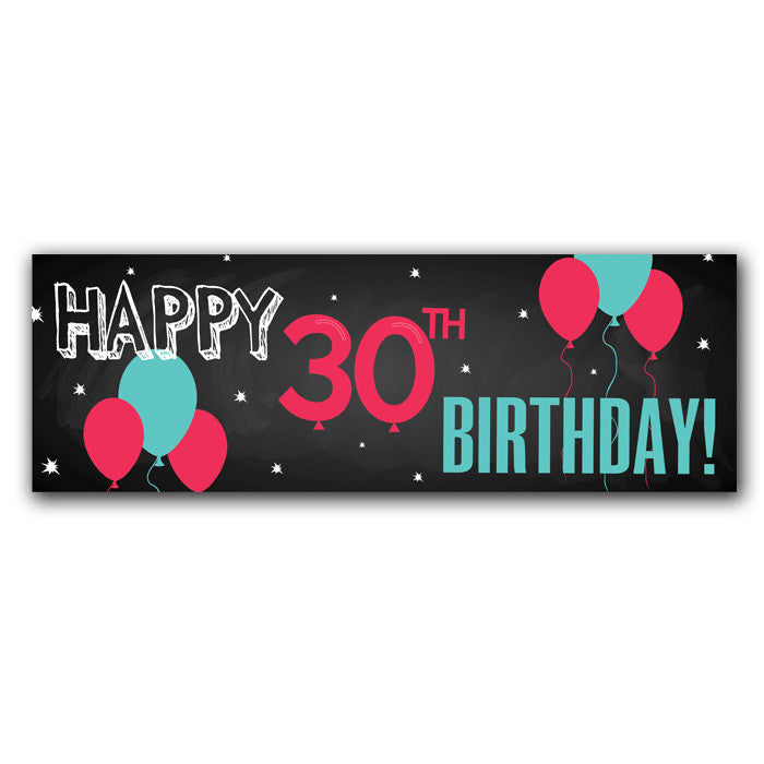 30th birthday party banner mypaperdot