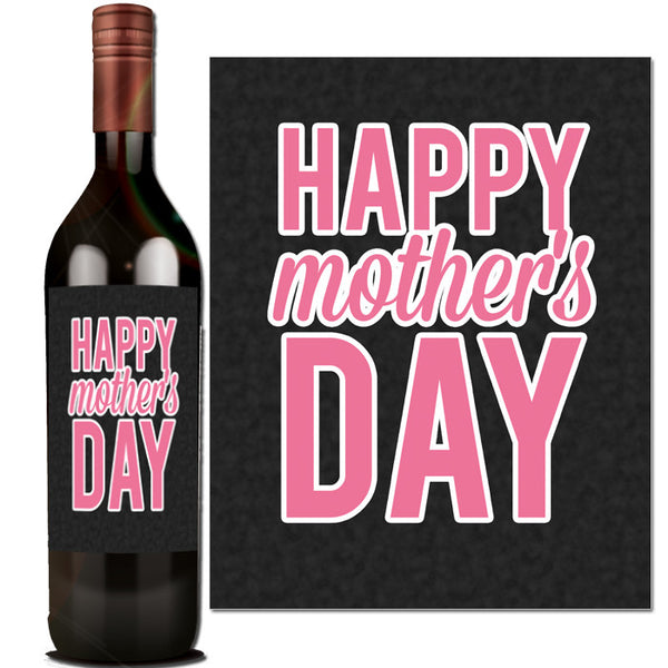 This is an image of Delicate Mother's Day Wine Labels