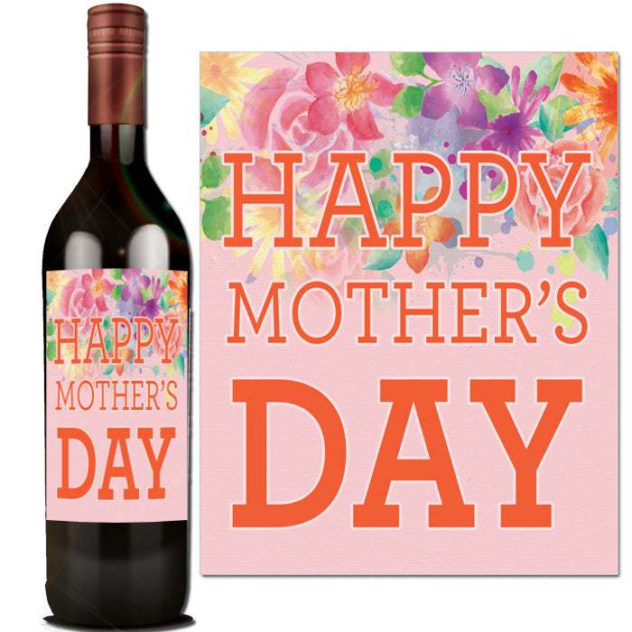 It's just a graphic of Clever Mother's Day Wine Labels