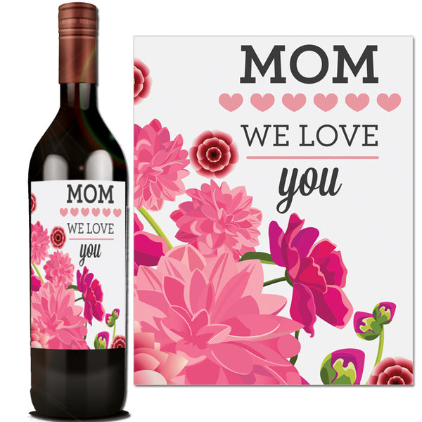 This is a picture of Adaptable Mother's Day Wine Labels