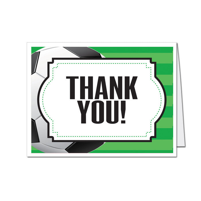 Soccer Thank You Cards 8 Pack MyPaperDot