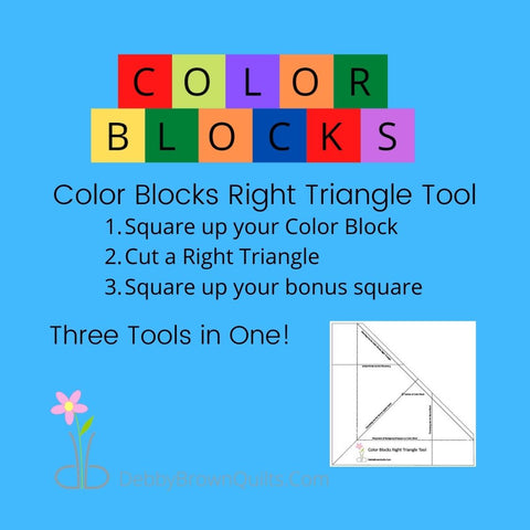Color Blocks Right Triangle Tool