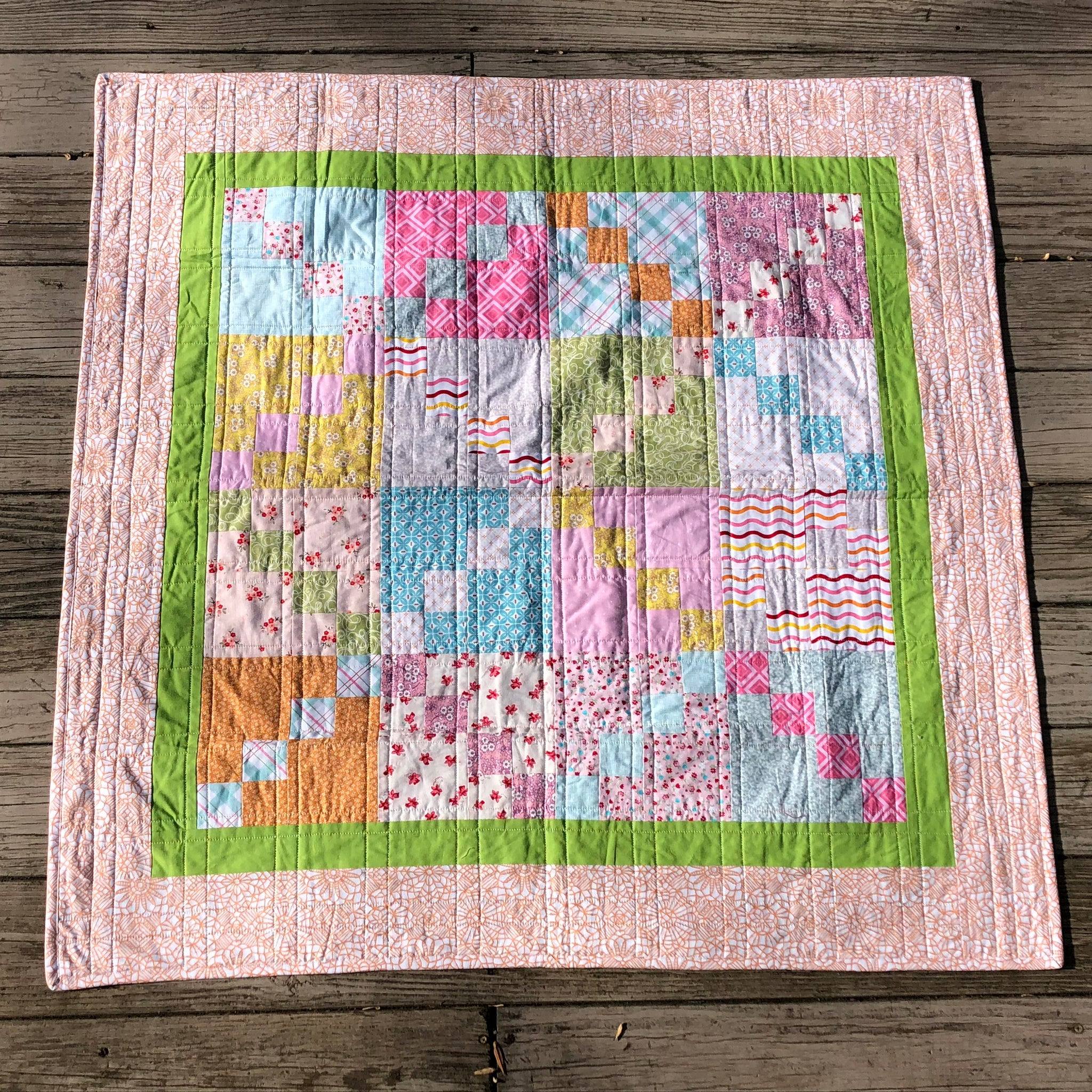 Share and Share Alike Cutie Quilt Kit featuring Riley Blake Fabrics