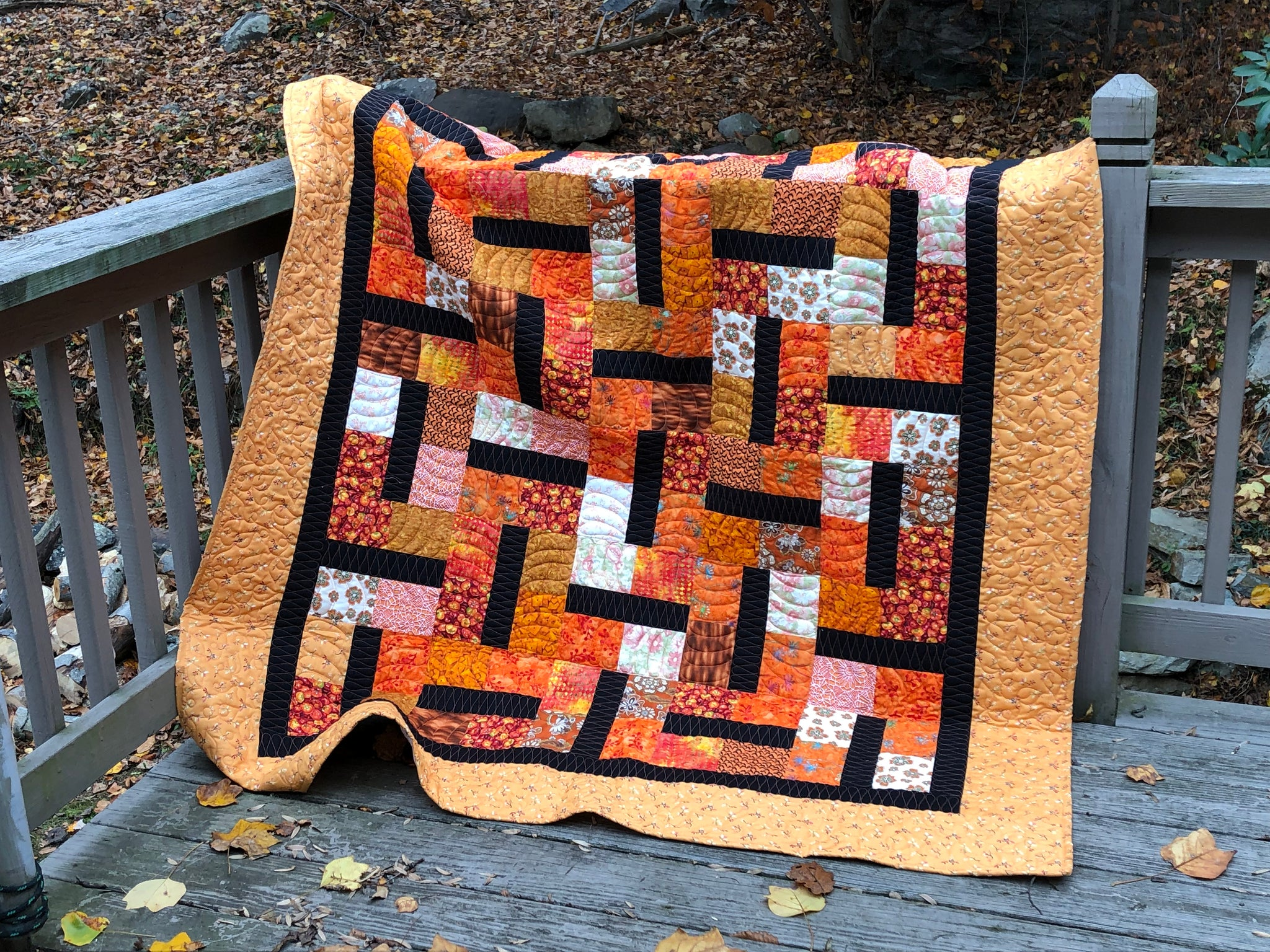 Bowl of Cherries Cutie Quilt Kit -- orange you glad?