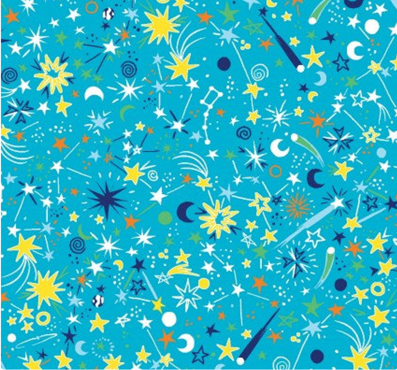 Cosmic Geo glow in the dark fabric