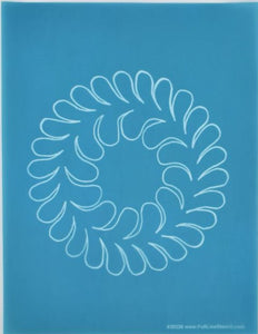 Feather Wreath Stencil