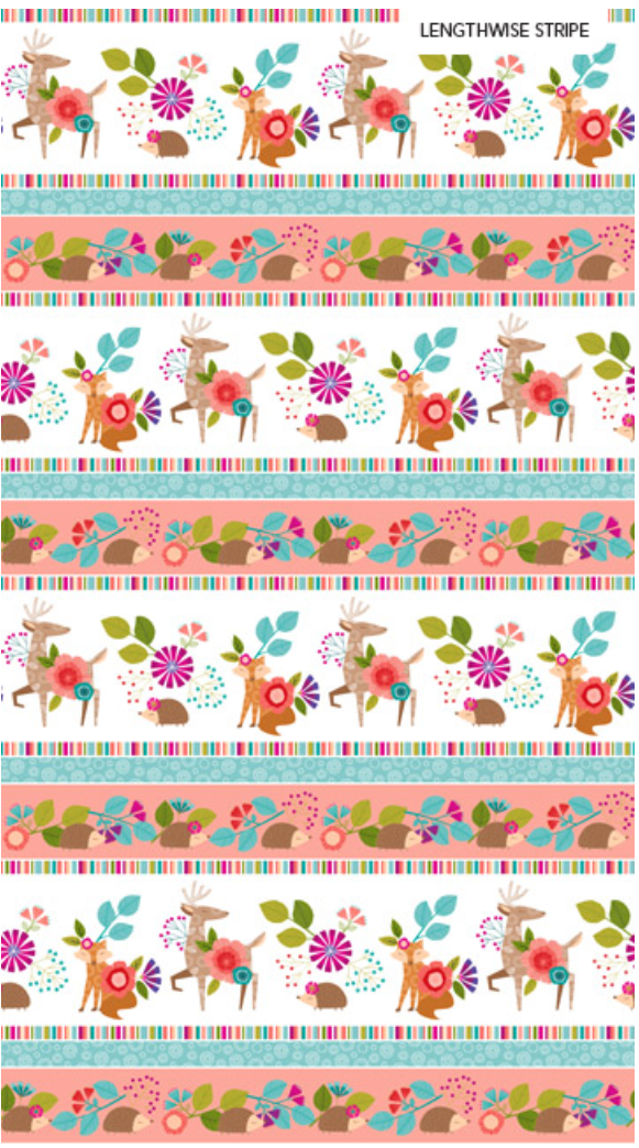 Forest Frolic border print from Northcott