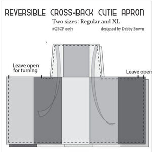 Reversible Cross-Back Cutie Apron Pattern