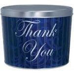 Blue Thank You 2 Gallon Tin
