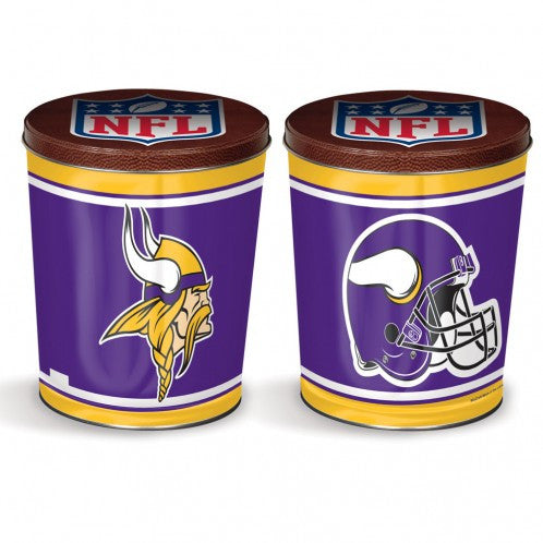 Minnesota Vikings Gift Tin tapered  3 gallon