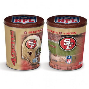 San Francisco 49ers Gift Tin tapered 3 gallon