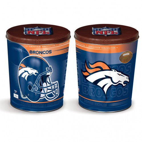 Denver Broncos Gift Tin tapered 3 gallon