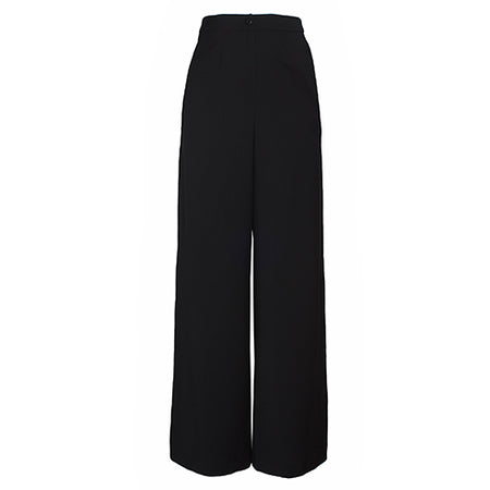 Julia Leifert, Pants, Women's fashion, High Waist, virgin wool, wolle, organic, natural, cool, black, weites Bein, palazzo pants, wide leg, made in Germany,
