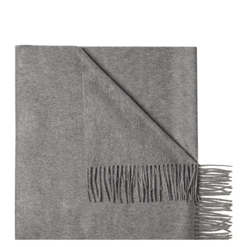 Philomena Zanetti grey pure cashmere scarf made in Italy