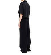 Philomena Zanetti - cropped oversize tencel blouse woman