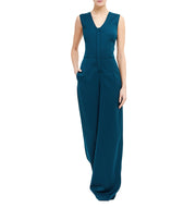 Julia Leifert, evening, Hosenanzug, organic, virgin wool, jumpsuit, cut out, made in Germany, elegant, weites bein, Palazzo Pants,