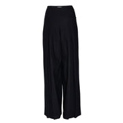 Julia Leifert, Designer, Women's fashion, Parts, wide leg, Palazzo Pants, pleated, wool, warm, natural, Organic, slowfashon, back, Damenhose, Hose, Wolle, Virgin Wool