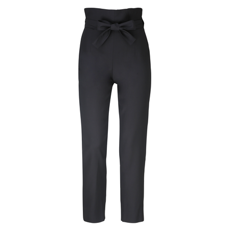 Julia Leifert, Paper Bag Pants, Women's fashion, High Waist, virgin wool, wolle, slim fit, organic, natural, cool, black, verkürzt, made in Germany,