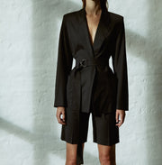 PHILOMENA organic virgin wool woman business blazer with belt