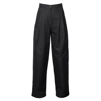 Cropped Cross Twill Trousers