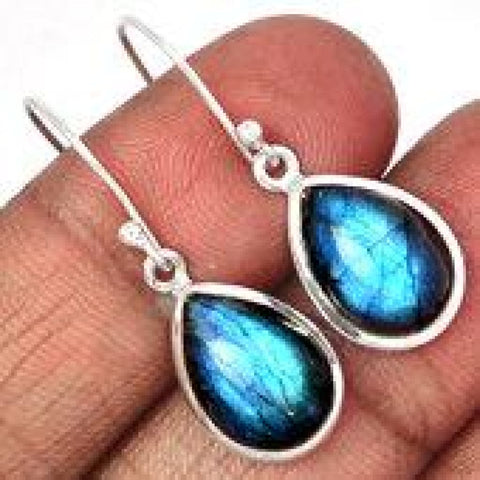 Labradorite Earrings - Labradorite stone earrings - Labradorite Jewelry - healing crystal earrings - Labradorite - Sterling silver 1910