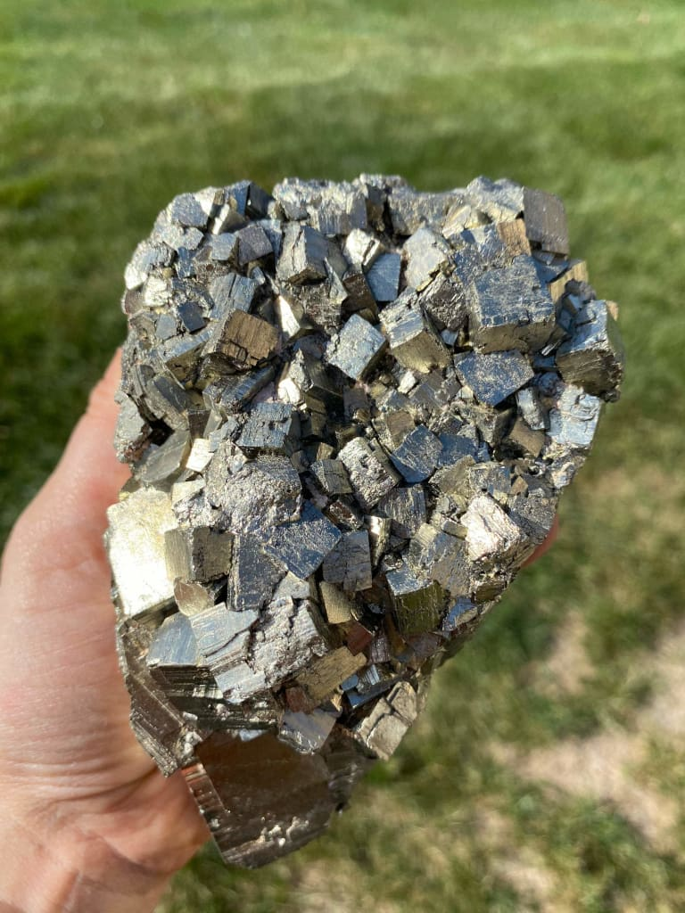 raw pyrite stone - Pyrite cluster - Healing Crystal and Stones - Energy crystal - energy stone - pyrite crystal - chakra crystals 20