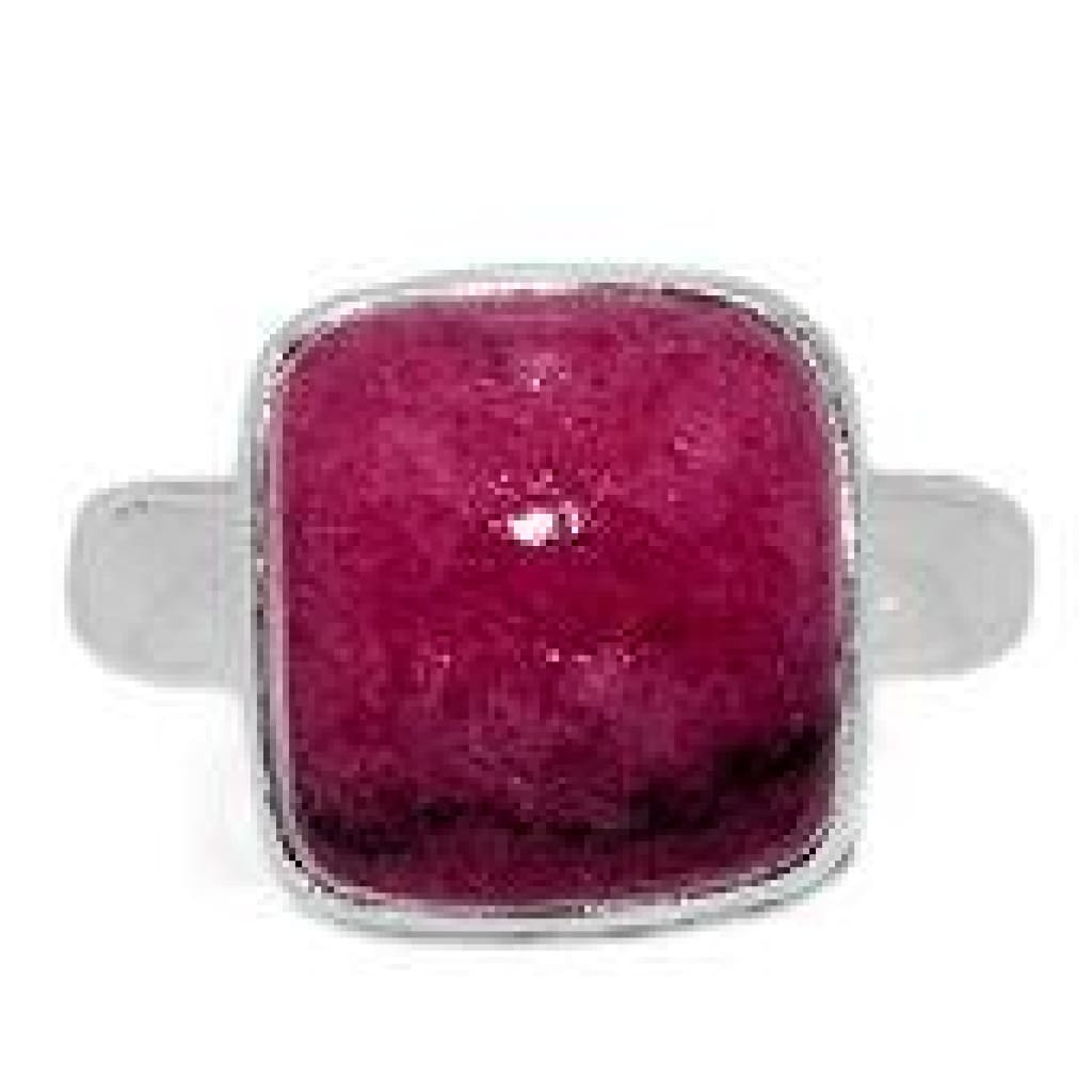 Rhodonite Ring Size 7 - Rhodonite Jewelry - size 7 ring Sterling silver - rhodonite heart chakra crystals - healing crystals and stones 441