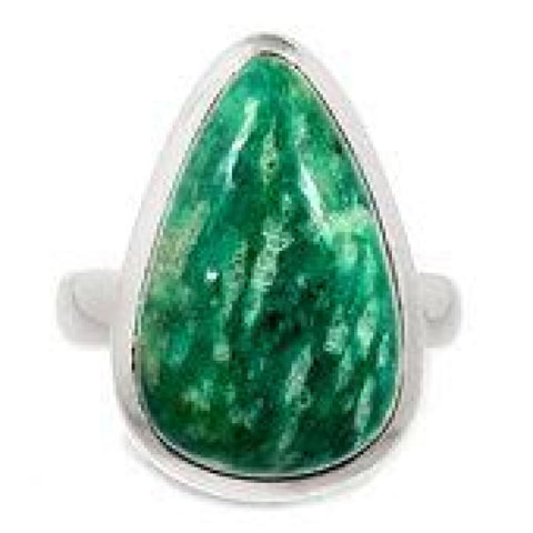 Amazonite Ring Size 6 Ring Sterling Silver Ring - Amazonite Crystal Ring - Amazonite Jewelry - Amazonite Stone Ring - Healing Crystals 601