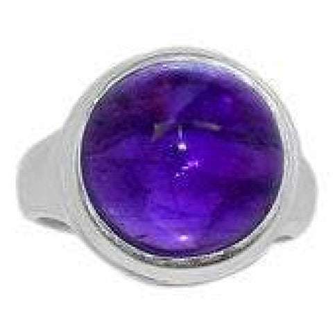 Amethyst Ring Size 7 Ring Sterling silver ring - Amethyst Jewelry - Amethyst crystal ring - healing crystals - amethyst stone ring 1892