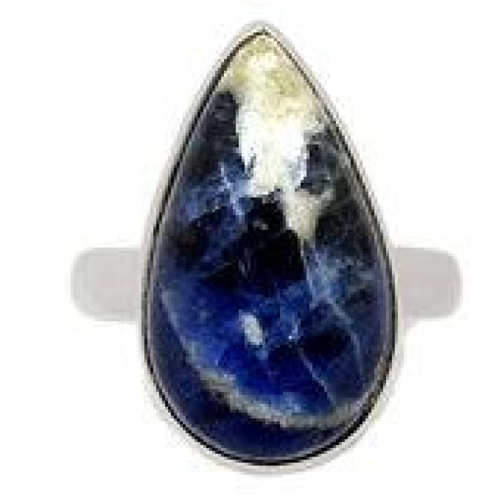 Sodalite Ring - size 7 ring - sodalite jewelry - healing crystals and stones - sodalite stone - chakra - sterling silver ring size 7 - 324