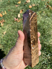 Chocolate Calcite Stone Point - Stone Tower - brown calcite stone tower - root beer calcite stone - Chocolate calcite crystal Point 6