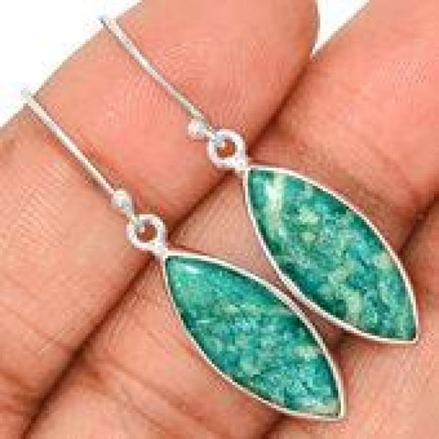 Amazonite Earrings - Amazonite Stud Earrings - Amazonite Jewelry - Healing Crystal Necklace - 925 sterling silver earrings - 262