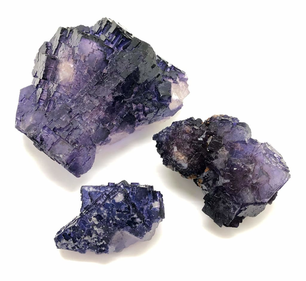 Raw Purple Fluorite Crystal from Mexico - cubic fluorite crystal - purple fluorite stone - healing crystals and stones - raw fluorite stone