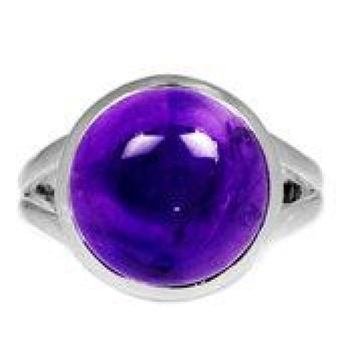 Amethyst Ring Size 9 Ring Sterling silver ring - Amethyst Jewelry - Amethyst crystal ring - healing crystals - amethyst stone ring 1858