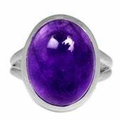 Amethyst Ring Size 6 Ring Sterling silver ring - Amethyst Jewelry - Amethyst crystal ring - healing crystals - amethyst stone ring 1861