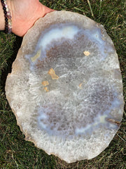 Agate Slice Large - quartz crystal - Agate Slab - large agate geode - rocks and minerals - agate stone - healing crystals and stones 200