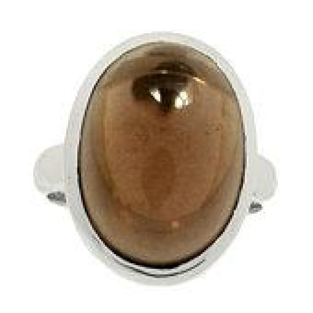 Smoky Quartz Ring Size 7 - Sterling Silver Ring - smoky quartz crystal ring - healing crystals and stones - smoky quartz jewelry 222