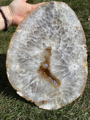 Agate Slice Large - quartz crystal - Agate Slab - large agate geode - rocks and minerals - agate stone - healing crystals and stones 188