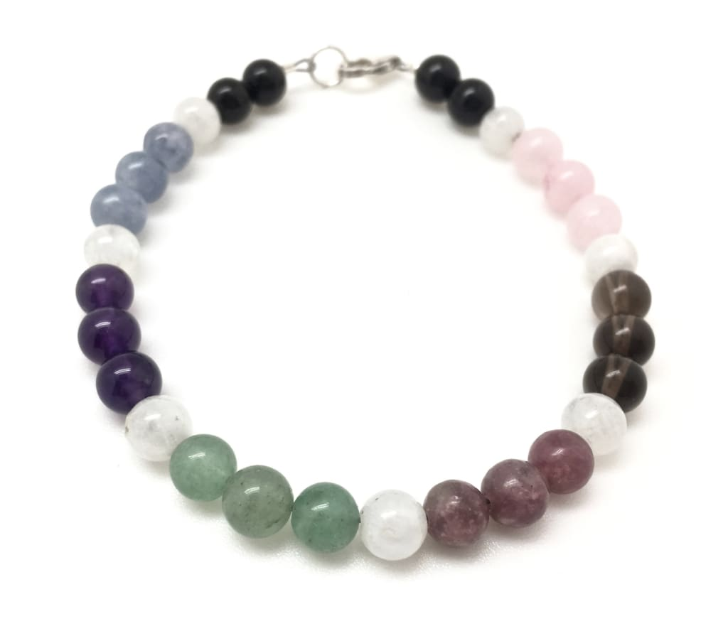 Anxiety, Self Esteem, Calming, Stress, Love & Grounding Bracelet - Healing Crystal Bracelet