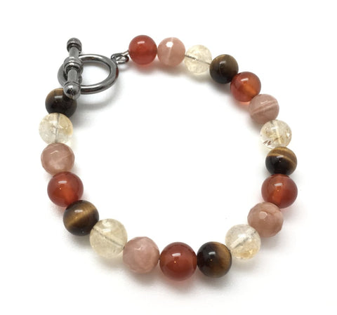 Success & Motivation Bracelet - Energy Boost (sunstone, carnelian, tigers eye, citrine crystals)