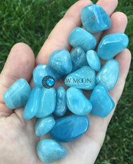 Aquamarine Tumbled Stone - New Moon Beginnings - 3