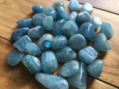 Aquamarine Tumbled Stone - New Moon Beginnings - 2