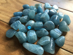 Aquamarine Tumbled Stone - New Moon Beginnings - 5