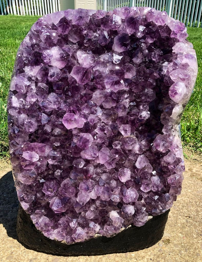 Amethyst Cathedral - Raw Crystal Cluster Raw Amethyst Cluster Genuine Brazilian Geode Healing