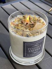 Positive Energy Candles - Sunstone Peridot & Citrine 6 Sizes Available!