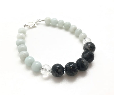 Energy Healing Bracelet (Amazonite, Quartz Crystal and Tourmalinated Quartz)