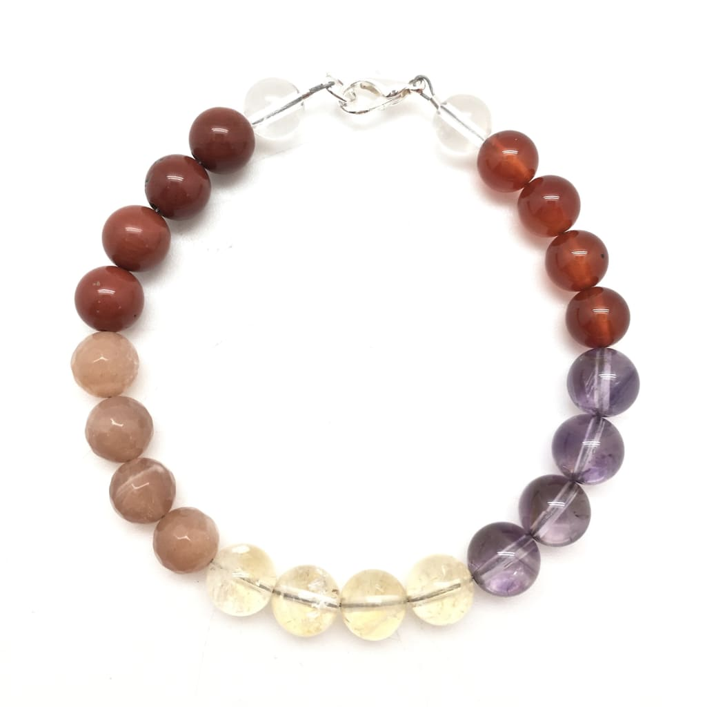 Positive Energy Boost Bracelet (Ametrine, Carnelian, Citrine, Sunstone, Red Jasper, & Quartz)